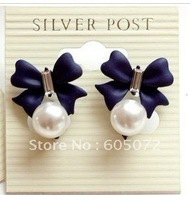 Free shipping lovely butterfly beads earring stud earring fasion jewelry gift