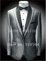 Wholesale Free shipping High qulity Groom Tuxedos Wedding Groomsman Men Bridegroom Suits ( Jacket + Pants+bowties )