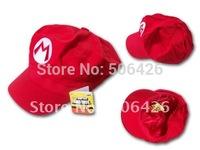 free shipping DHL EMS 100pcs/lot 2012 hat new Wholesale Super Mario Bro Anime mario Hat Kids Cap Cosplay