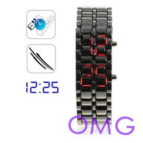 UPS Free shipping, Ice Samurai- Japanese Inspired Blue LED Watch