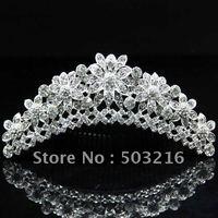 Free shipping wholesale fashion crystal jewelry wedding crown,tiaras