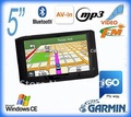 5&quot; car gps navigation system with analog tv ,AV IN,Bluetooth, IGO or Navitel mapTURKCE GUNCEL HARITA,MediaTek,drop ship accpted