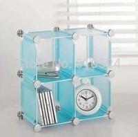 DIY PP plastic 4 culbes storge cabinet