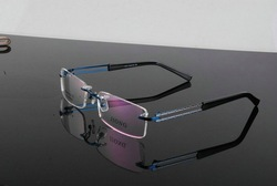 New Arrival Freeshipping Best selling fashion stainless steel optical eyeglasses metal rimless frame 1074 ready-made wholesale(China (Mainland))