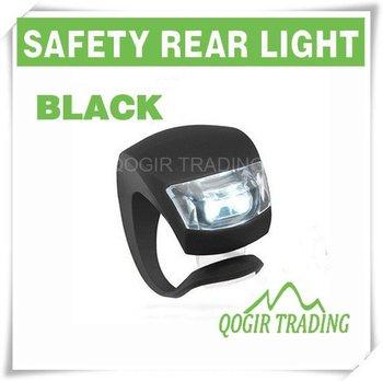 Silicone Bike Bicycle Rear Wheel LED Flash Light BLACK LY-6007