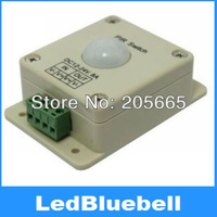 Free shipping DC12~24V 8A Infrared sensor controller, PIR switch, infrared controller LED controller   [LedBluebell ]