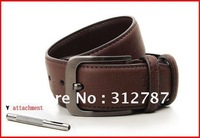 33mm Wide Mens Cow Skin Genuine Leather Belt Black & Brown Brand New With Bag