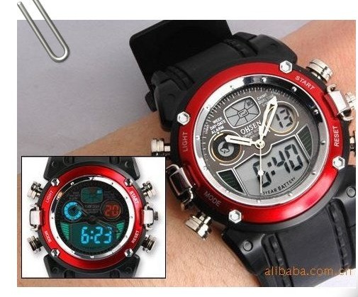 China post Watch For 2013 Hot!!!!! OHSEN Resin Digital Sport Watches LCD Watches Wholesale Free Shipping(China (Mainland))