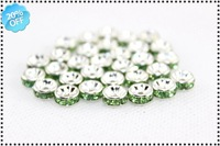 Free Shipping MOQ: (120 pcs)Fashion Jewelry Accessories Shamballa Crystal Beads Wholesale And Retail+Green Color +Size 8mm AB003