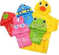 Kids Funny Raincoat Child Children Cartoon Baby Rain coat -Auto-Duck-Bunny-Frog Free shipping