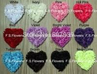 Free DHL/EMS chiffon heart,chiffon heart,valentine gift flower,hair accessories,8x8CM,280pcs/lot,22 stock colors