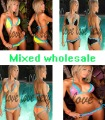 New Free shipping wholesale (Orange, yellow, rose black ) sexy bikini ladies' beachwear fashion bikini fashion swimsuit 5012