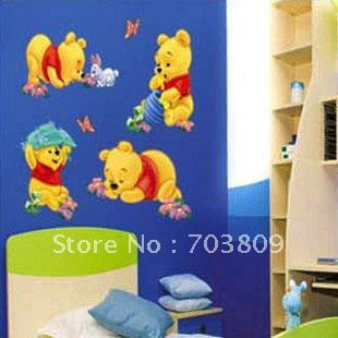 Cheap Cartoon Animal PVC Wall Sticker ,Wall Decal ,Wallpaper, Room Sticker, House Sticker(China (Mainland))