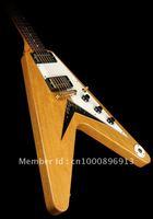 Free Shipping Custom Shop Electric Guitar Natural timber