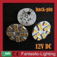 12V DC dimmable back pins LED G4 high bright 2800-7000k 12 SMD 5050 SMD 1.8W LED light G4 bulb