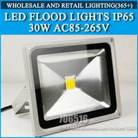 Free shipping/DHL LED Floodlight  30W IP65 Epistar 35mil AC85-265V Red / green / blue / yellow / warm white / cool white