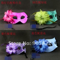 Free shipping+20pcs, Carnival& Halloween 's party flower feather dance /Face mask.(MJ014)