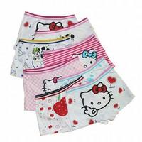 3 pcs/pack 100% Cotton Girls Colorful Hello Kitty Cartoon Print Panties / Shorts (SE-66)