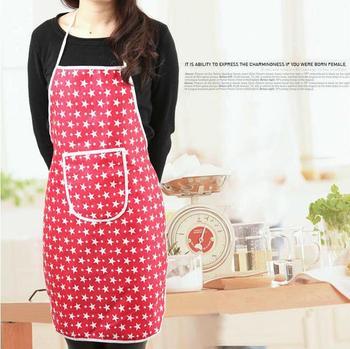 Kitchen Waterproof Print Apron 4 Color (SX-32)