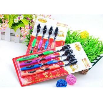 4 pcs/pack Fashion Korean Naro Dental Care / Naro Bamboo Toothbrush (KA-17)