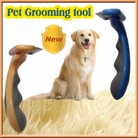 "Fasaiton 4"" Shedding Brush Pet brush for Large Dogs, Blue Color"