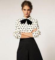 new 2014 Vintage Long Sleeve Heart Print Shirts Casual Dress Shirt Women Chiffon Blouse Clothing