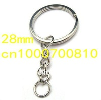 Free shipping,Factory Outlet; DIY accessories 28mm key ring key chain key ring and extend chain / WH-501
