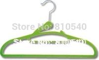 New style Fashionable  ABS plastic velvet flocked non-slip clothes  hanger