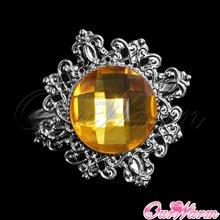 Frete grátis 1 peça de ouro da jóia do diamante jóia anel de guardanapo guardanapo Wedding Banquet titular Dinner Table nupcial Adorno Favor(China (Mainland))