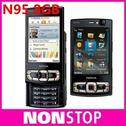 N95 8GB Original Nokia N95 8GB WIFI GPS 5MP 2.8''Screen WIFI 3G Unlocked Mobile Phone with 8GB internal FREE SHIPPING(China (Mainland))