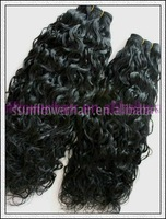 Malaysian curly hair weft 6a grade virgin human hair weave