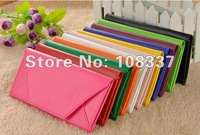 10x leather clutch envelope wallet bag money clip wallet various colors free shipping