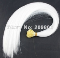 16'' long 100pieces Stick tipped Straight feather hair extentions synthetic hair #white