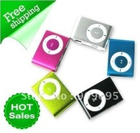 100 pcs Clip MP3 Music player with card slot mini mp3 player/8 color wholesale low price/Clip MP3 Music player SL03a