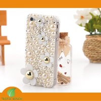 DESIGNER PHONE CASE-Vans Crystal Bling Floral Paved Pearl Cell Phone Case For iPhone 4/4S, Retail Packaging+ FREE SHIP