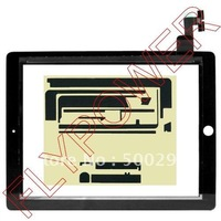 For iPad 2 touch screen digitizer with free sticker by free DHL, UPS or EMS; 10pcs/lot