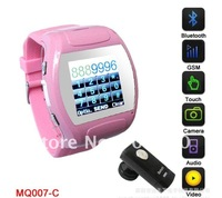 DHL,free shipping,2011 MINI POCKET ultra-thin watch mobile phone, MQ007, Men and women watch type mobile phone,wholesale