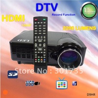 cheap led projector high definition HDMI 1080p with dtv record function, work with pc, laptop, wii, ps3 and dvd dtc (D9HR)