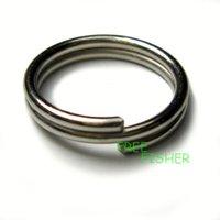100pcs Stainless Steel fishing Double Loop Split Rings  15mm SW1