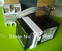 Sestos Dual Digital PID Temperature Controller 2 Omron Relay Output Black D1S-VR-220 + K Sensor + 25A DA SSR thermostat