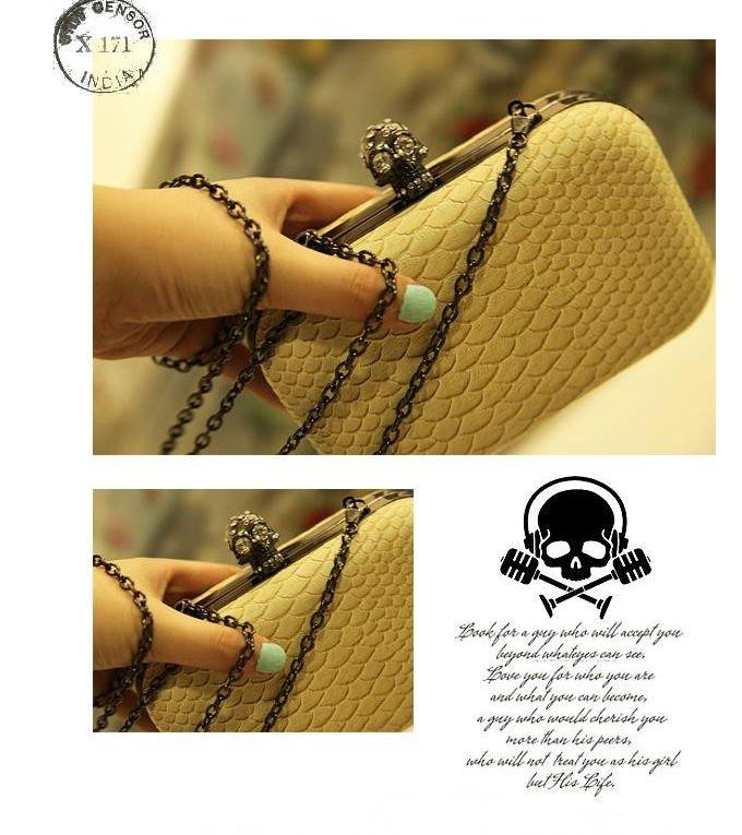 высокое качество женщин сумочка моды день муфты мешок сумочка выстегивая цепь бежевого цвета