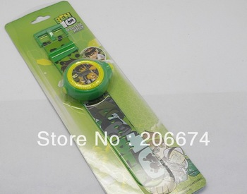 New arrivals BEN10 Design Children LED Projector Watch(Green) free shipping