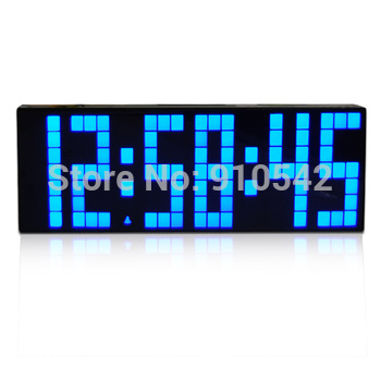 Large Digital LCD Alarm Clock Thermometer Date Time Night Light Free Shipping
