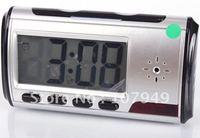 Free shipping Digital Clock Hidden Camera DVR USB Motion Alarm-6610