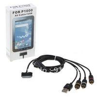 Wholesale New AV TV RCA USB Audio Video Cable for Samsung Galaxy Tab P1000p7500 1.5M Length