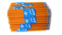 12 pcs/pack Wooden Multi-Color HB Standard With Eraser Pencil Stationery (KB-34)