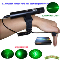 Promotion 532nm green portable hand-held laser / stage show / laser dance / Multi-function