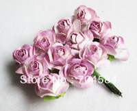 Free Shipping--Lavender  Handmade Mini artificial Paper Flower for Wedding Invitation Card Scrapbook Card Making DIY Craft