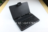 Black 7 Inch Tablet PC keyboard Leather Case Protecting Jacket