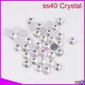 LY10346,Non hot fix rhinestone Nail art rhinestones ss40 crystal clear CPAM free,144pcs/bag,good quality